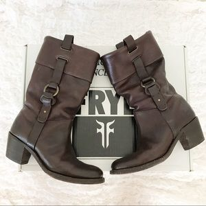 Frye Jane Ankle Brown Boots